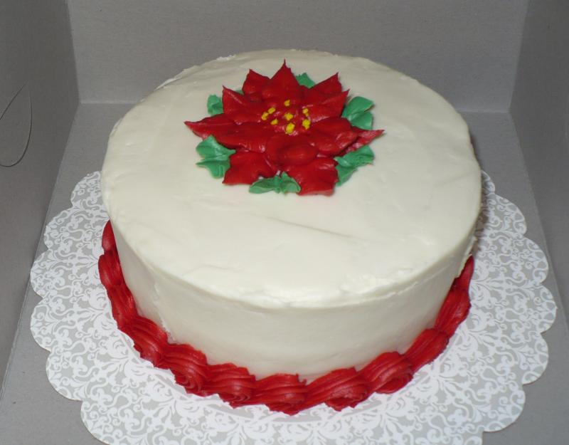6 Inch Red Velvet Decorated for Holidays