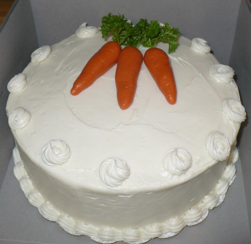 Carrot Cake with Marzipan Carrots Garden Cake with Basketweave & Royal ...