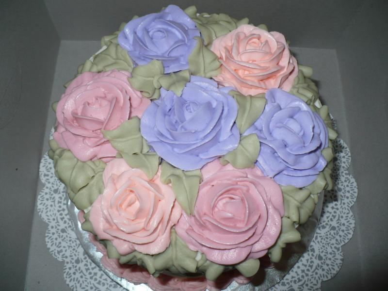 Lemon Rose Garden Cake
