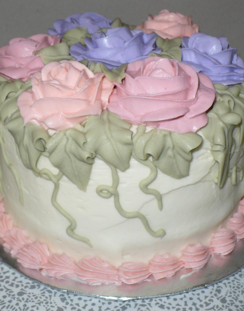Rose Garden Cake - Side View