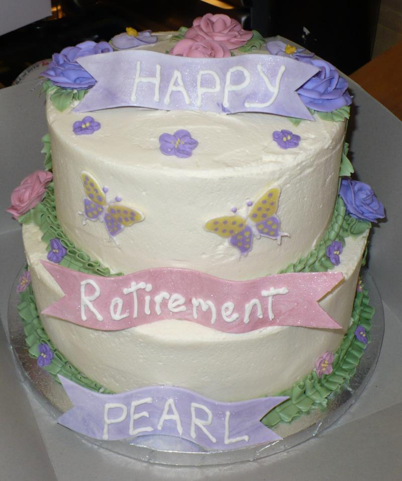 Tiered Retirement Cake