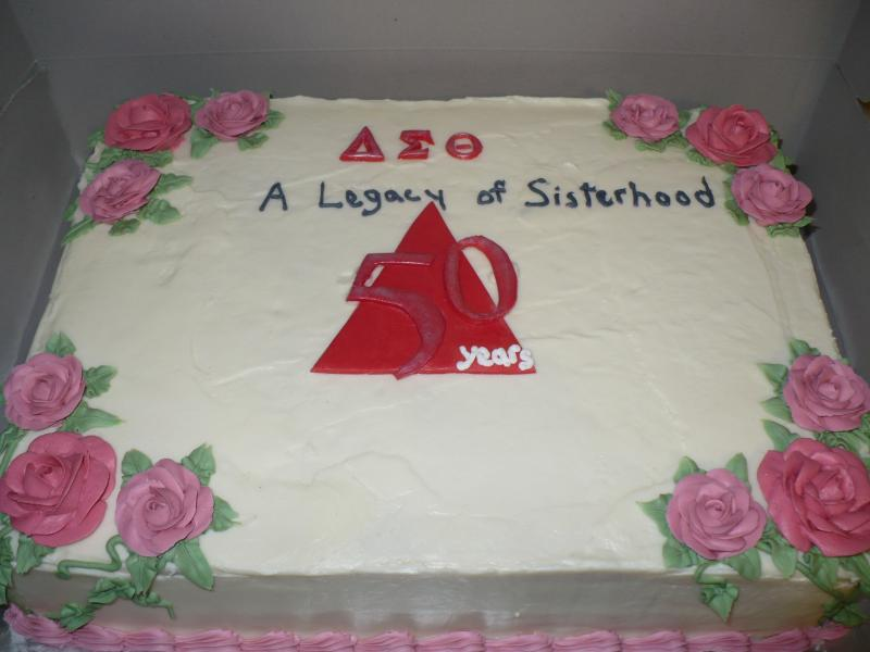 Sorority Red Velvet Sheet Cake